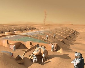Astronauti na Marsu negdje oko 2070. upravo privode kraju izgradnju staklenika koji će im osigurati neophodne životne potrebe, zrak, vodu, hranu...