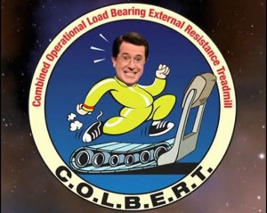 Logo pokretne traka za vježbanje nazvane COLBERT