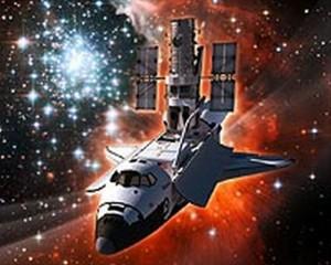 Umjetnički prikaz raketoplana Atlantis i teleskopa Hubble
