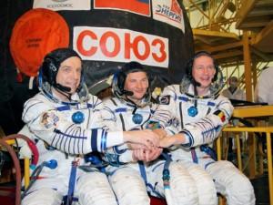 Posada Sojuza TMA 15 neposredno pred lansiranje