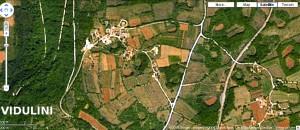 Satelitska snimka Vidulini u Istri dobijena sa google earth, rezolucija je 2x2m