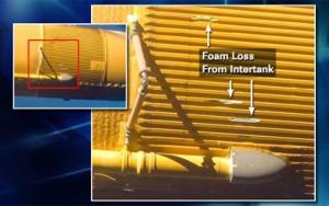 tpali dijelovi termoizolacije vanjskog rezervoara koji prilikom lansiranja mogu oštetiti svemirski brod i onemogućiti njegov siguran povratak kroz atmosferu na Zemlju.