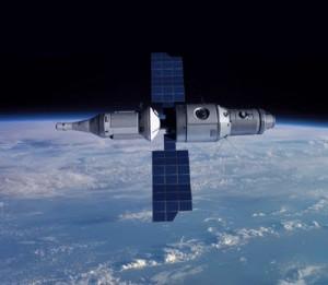 Računalni model svemirskog broda i postaje klase ALMAZ
