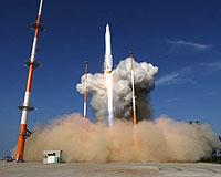 Južnokorejska raketa KSLV-1 za vrijeme lansiranja