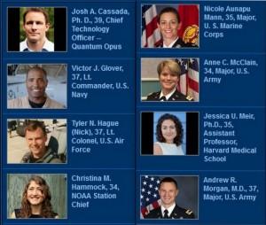 osmorica novih astronauta NASA 2013
