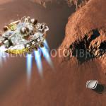 Schiaparelli EDM lander at Mars, artwork